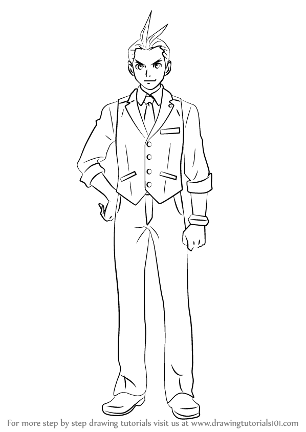 Learn How To Draw Apollo Justice From Ace Attorney Ace