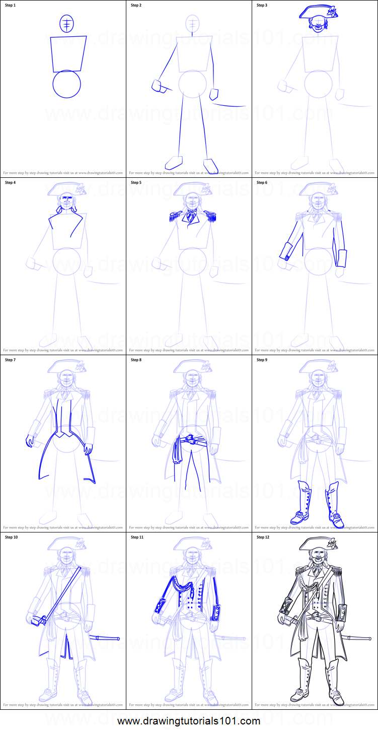 How To Draw Captain James Cook From Assassin S Creed Printable