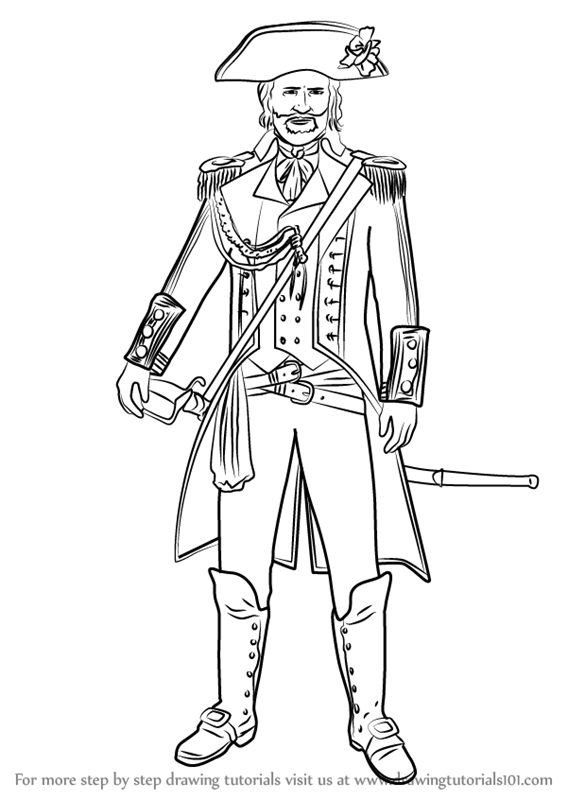 Step By Step How To Draw Captain James Cook From Assassin S Creed