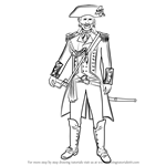 How to Draw Captain James Cook from Assassin's Creed