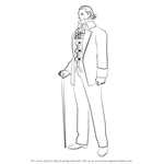 How to Draw Manfred von Karma from Ace Attorney