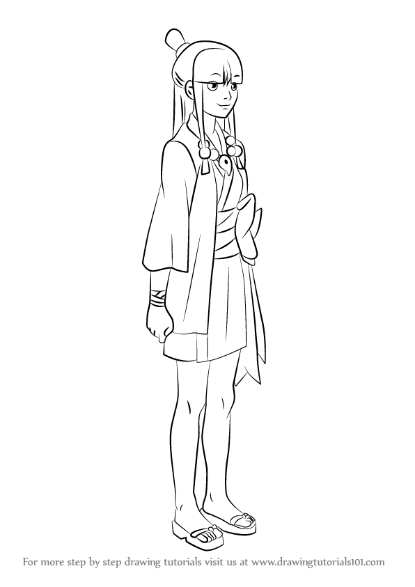 Learn How To Draw Maya Fey From Ace Attorney Ace Attorney