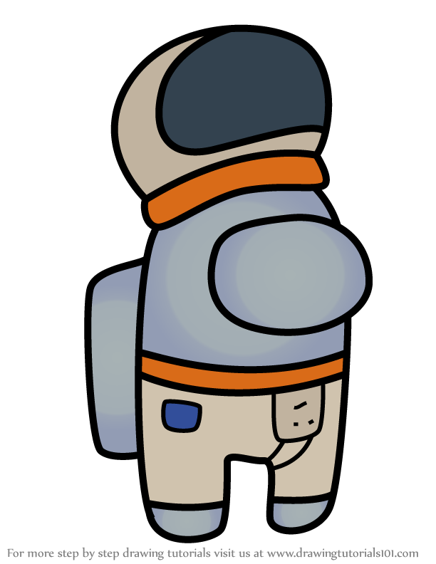 Learn How To Draw Astronaut From Among Us Among Us Step By Step Drawing Tutorials