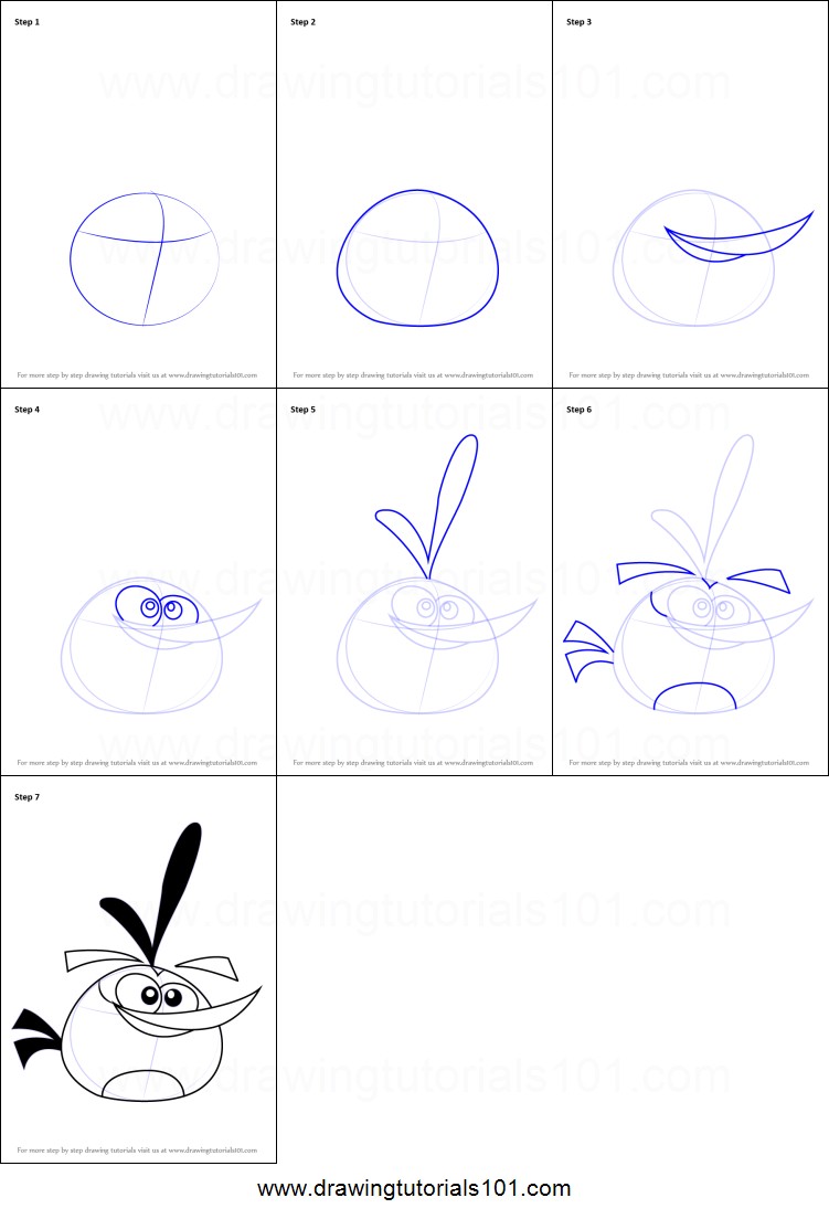how to draw bubbles from angry birds printable step by step