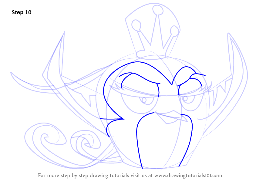 Step By Step How To Draw Gale From Angry Birds