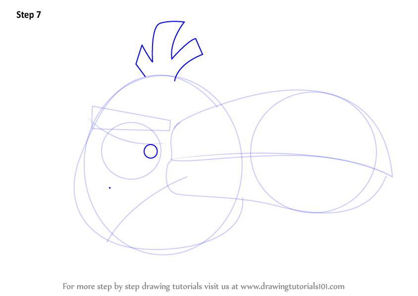 Step By Step How To Draw Hal From Angry Birds
