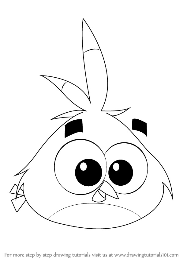 Learn how to draw luca from angry birds angry birds step by step drawing tutorials