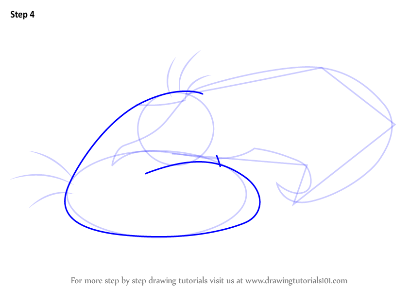 Learn How To Draw Mighty Eagle From Angry Birds (Angry