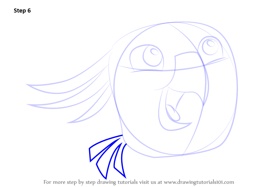 Step by step how to draw poppy from angry birds for Poppy drawing step by step