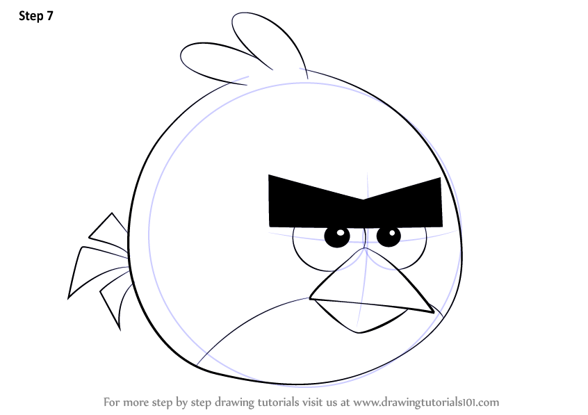 Learn How To Draw Red From Angry Birds (Angry Birds) Step