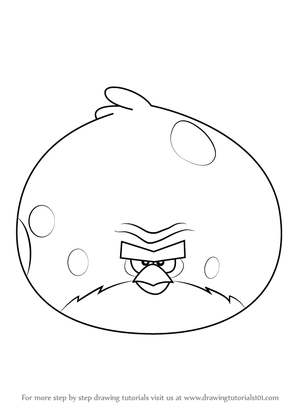 Line Drawing Angry Face : Learn how to draw terence from angry birds