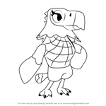 How to Draw Amelia from Animal Crossing