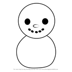 How to Draw Baby Snowman from Animal Crossing