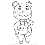 How to Draw Beardo from Animal Crossing