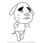 How to Draw Benjamin from Animal Crossing