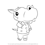 How to Draw Bertha from Animal Crossing