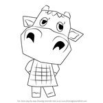 How to Draw Bessie from Animal Crossing
