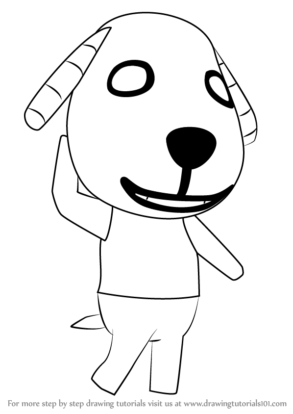 Learn How To Draw Biskit From Animal Crossing Animal Crossing