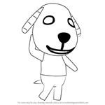 How to Draw Biskit from Animal Crossing