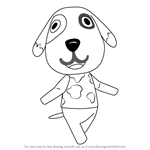 How to Draw Bones from Animal Crossing