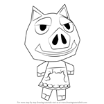 How to Draw Boris from Animal Crossing