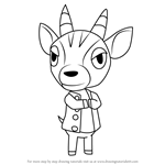 How to Draw Bruce from Animal Crossing