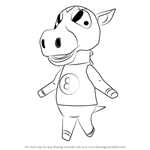 How to Draw Buck from Animal Crossing