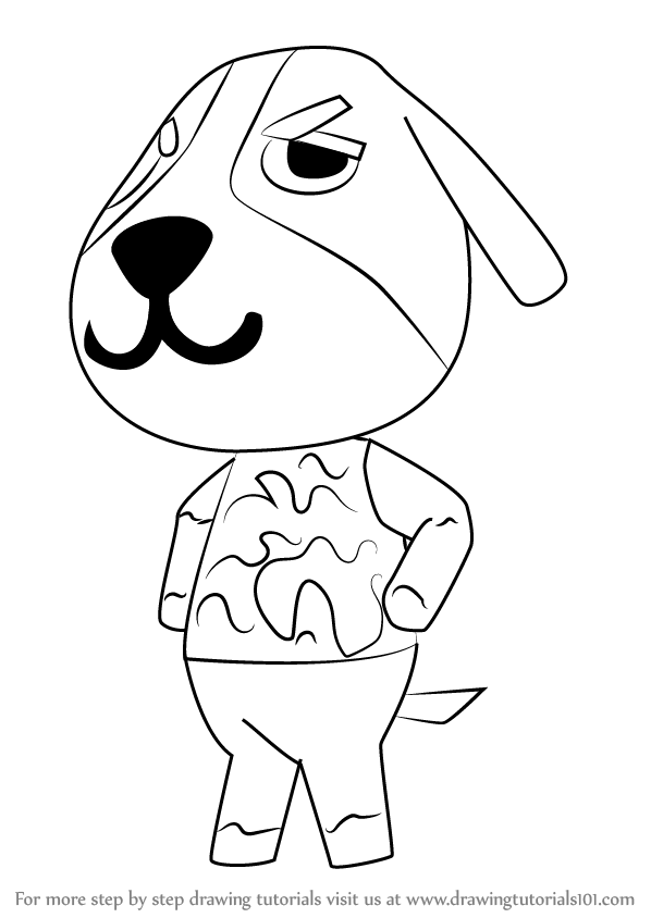 Learn How To Draw Butch From Animal Crossing Animal Crossing