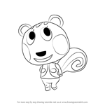 How to Draw Cally from Animal Crossing