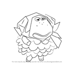 How to Draw Cashmere from Animal Crossing