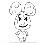 How to Draw Chadder from Animal Crossing