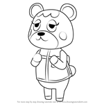 How to Draw Charlise from Animal Crossing