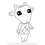 How to Draw Chevre from Animal Crossing