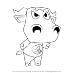 How to Draw Chuck from Animal Crossing
