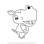 How to Draw Clara from Animal Crossing