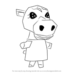 How to Draw Cleo from Animal Crossing