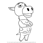 How to Draw Clyde from Animal Crossing