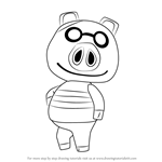How to Draw Cobb from Animal Crossing