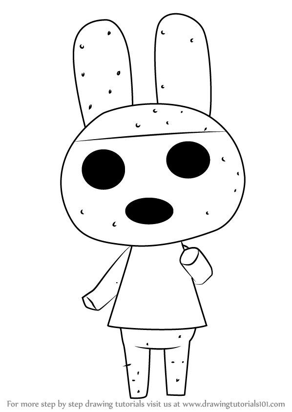 learn how to draw coco from animal crossing animal crossing step