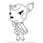 How to Draw Diana from Animal Crossing