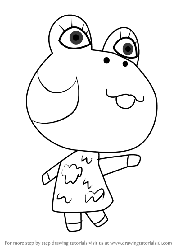 Step By Step How To Draw Diva From Animal Crossing