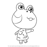 How to Draw Diva from Animal Crossing