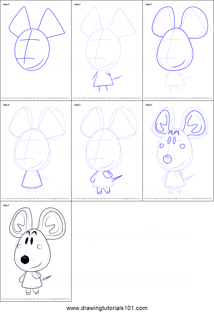 Uncategorized How To Draw Dora Step By Step how to draw dora from animal crossing printable step by drawing sheet drawingtutorials101 com