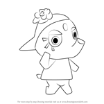 How to Draw Elina from Animal Crossing
