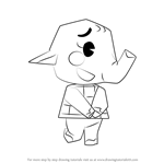 How to Draw Ellie from Animal Crossing
