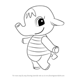How to Draw Eloise from Animal Crossing