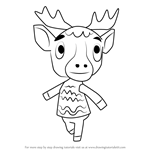 How to Draw Erik from Animal Crossing