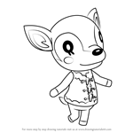 How to Draw Fauna from Animal Crossing