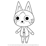 How to Draw Felyne from Animal Crossing
