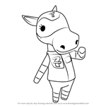 How to Draw Filly from Animal Crossing